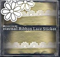 DL- Sticker Ribbon lace white 05