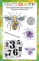 A5 Clear stamp set Grunge Bumble bee
