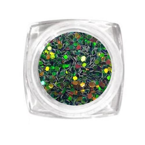 KN- Jar Glitter GREEN COPPER