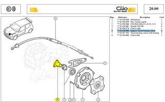TUBE GUIDE BUTÉE - Support-Thrust bearing carrier