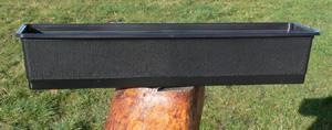Balkonglåda 70cm Svart