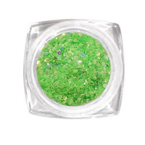 KN- Jar glitter LIGHT GREEN