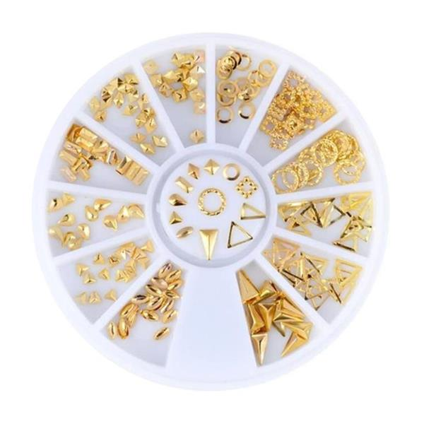 KN- WHEEL Golden Metal Deco