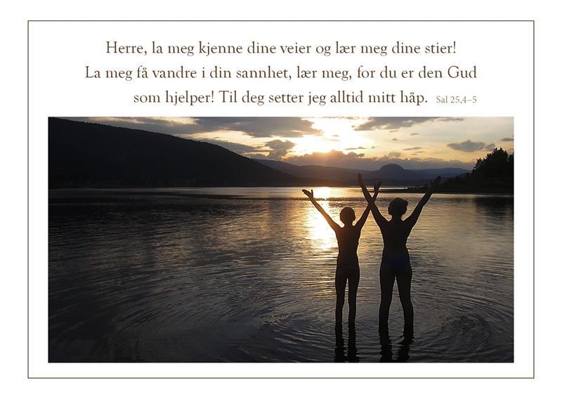 Bibelkort - Herre, la meg kjenne dine veier
