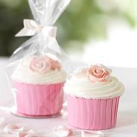 Cupcake Pose m/bånd og bunn, 12stk