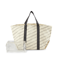 Day Canvas Transparent Shopper, Moonlight Beige