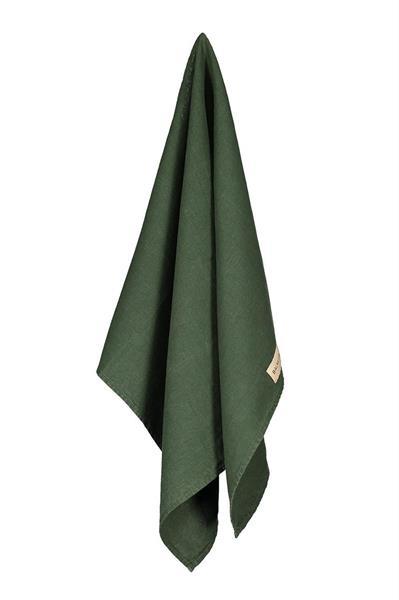 Balmuir Kitchen Towel Linen, Pine Green