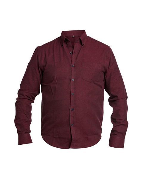 Flanellskjorta Lyx,Vinröd st.L