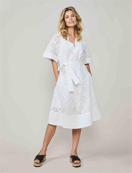 Summum Woman Dress all-over Chiffly, White