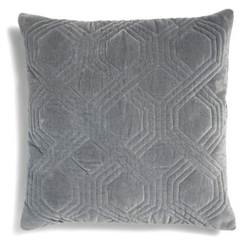 Classic Collection Geometric Cushion, Titanium