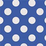 Servietter Dot Blå 16stk