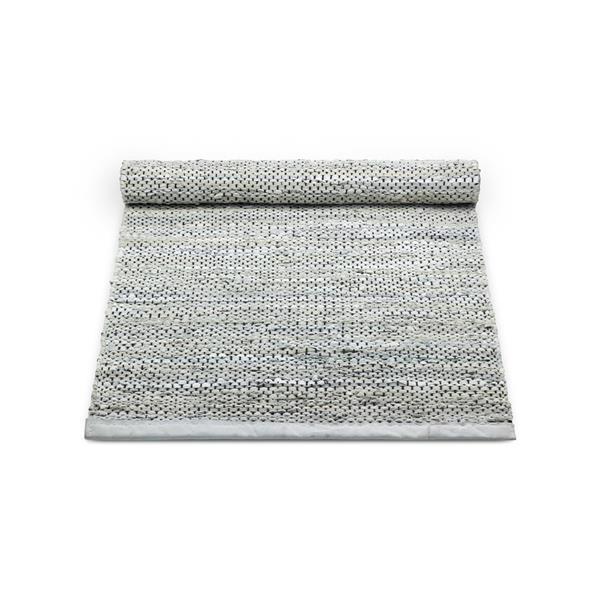 Rug Solid Nahkamatto, Light Grey 75 x 200 cm