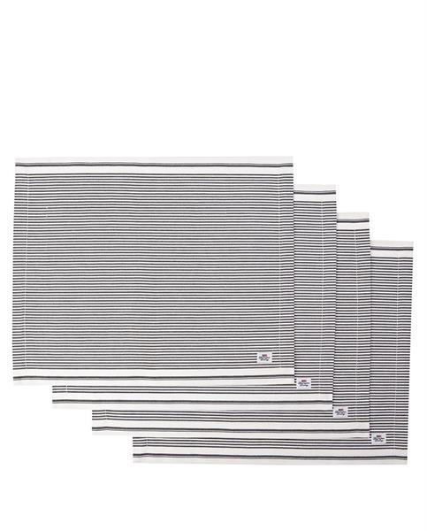 Lexington Icons Oxford Dark Gray/White Striped Placemat