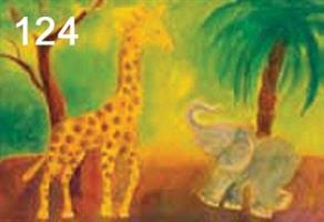 Kirahvi ja norsu kortti