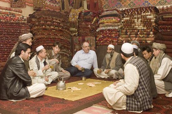 Blant afghanske teppehandlere i Peshawar