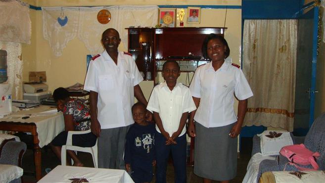 Captain David Odanga with family