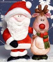 Silikonform Julenisse og Rudolf KD