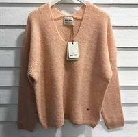 Mos Mosh Thora V-Neck Knit, Peach Parfait