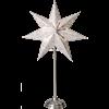 Julstjärna på fot Antique 55cm vit Star Trading