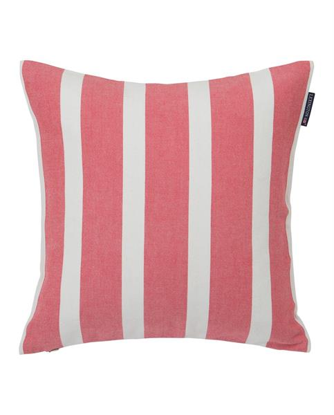 Lexington Wide Stripe Sham, White/Red