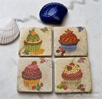 Underlägg/Coaster, Cup-cakes