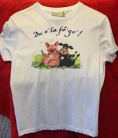T-shirt Du e la fö go 130-140 vit