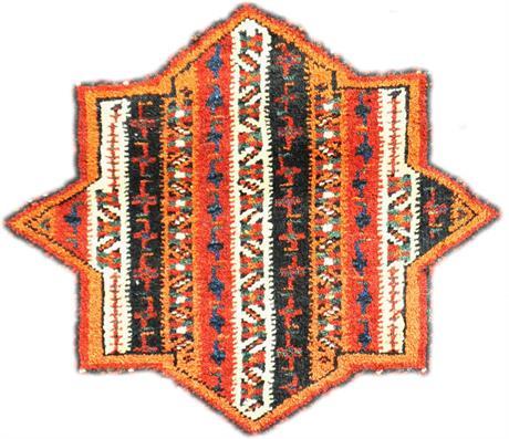 Utsnitt av khordjin eller sadelbag laget av Afshar-nomader