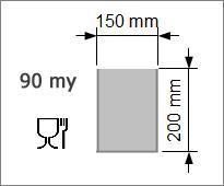 Vakuumpåse 150 x 200 mm, 90 my