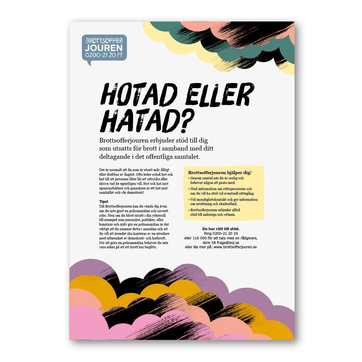 Affisch - Hotad eller hatad? A3