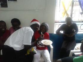 Santa på besök