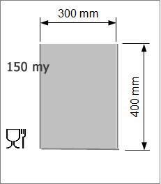 Vakuumpåse 300 x 400 mm 150 my
