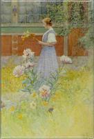 Magnetbricka Lisbeth med pioner