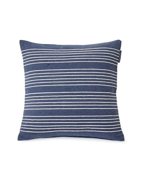 Lexington Structure Stripes Pillow Cover, Dark Blue/White
