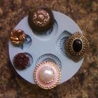 Silikonform Ornate Buttons Collection NM