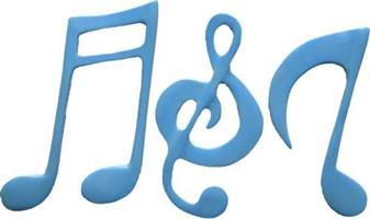 FI Silikonform Stor Musikk noter (SH139)
