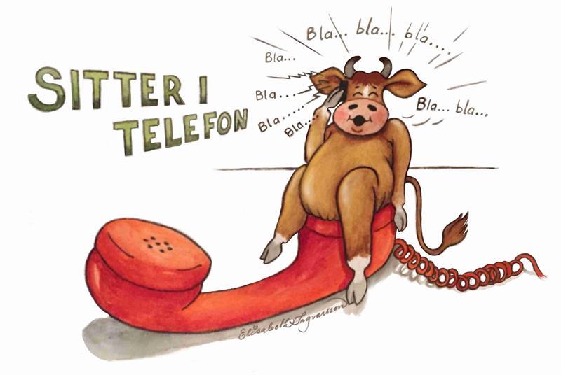 Sitter i telefon 7x9