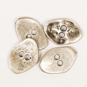 Kantet sølvknapp 20 mm