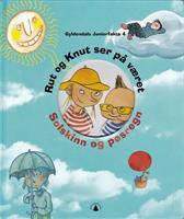 Rut og Knut ser på været. Solskinn og pøsregn