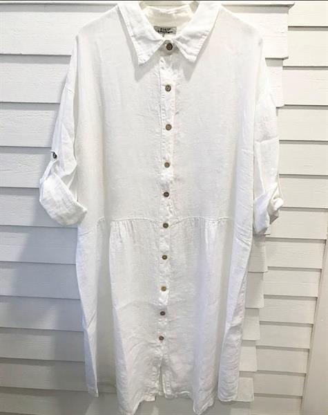 Piro Linen Dress, White