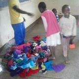 Utdelning av kläder