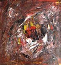 Titel: Konfrontation, strl: 30x30cm, akryl, Pris: 1600kr
