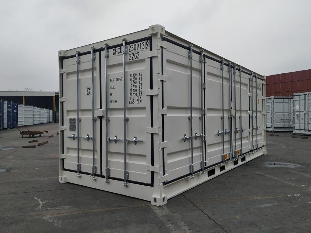20 fots container med full sideåpning