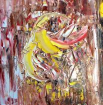 Titel: Samma vilja, strl: 40x40cm, akryl, Pris: 2500kr