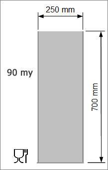 Vakuumpåse 250 x 700 mm, 90 my