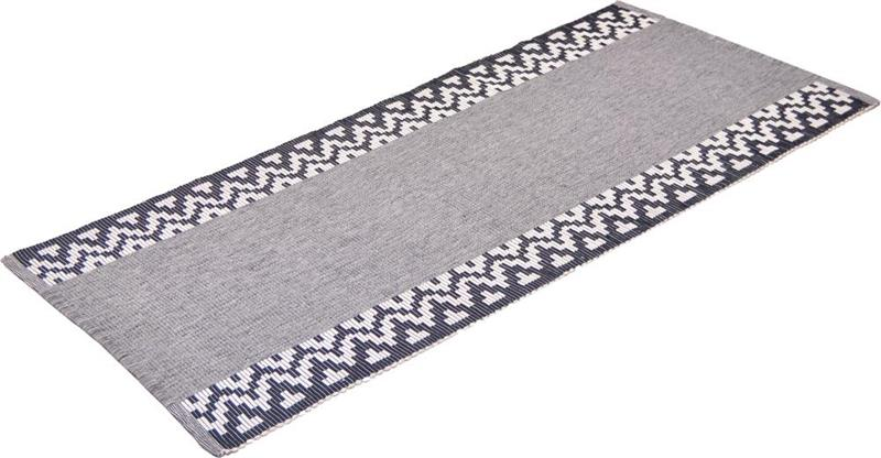 Karinmatta rips svartblå 300 cm