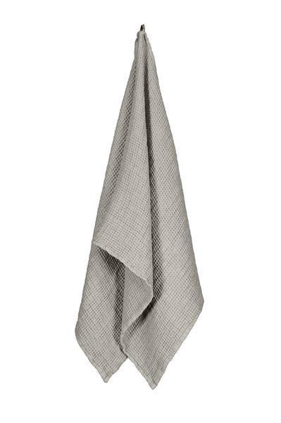 Balmuir Capri Linen waffle towel 45 x 100 cm, Light Sand