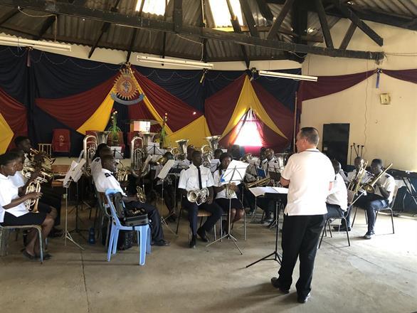 Rehearsal with the Kibera Citadel Band