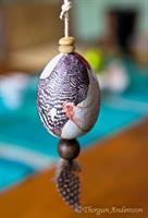 Ägg dekorerade Höns 2-pack