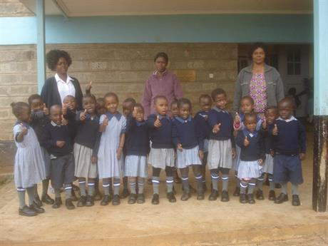 Kibera Children with new School Uniforms