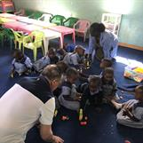 Kibera Nursary - Playing with Lego